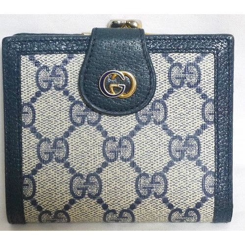 new style cfbed d295f OLD Gucci がま口財布(青G金具) | Vintage Shop Rococo