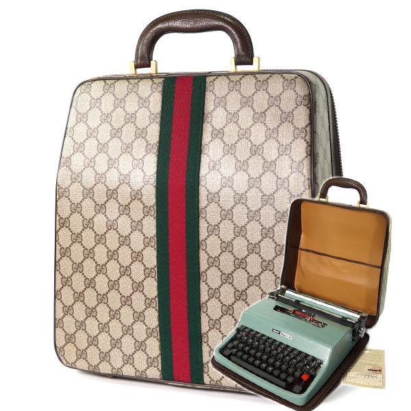 67d405935de7 OLD Gucci 「Olivetti」 タイプライターケース(茶)<訳アリ ...