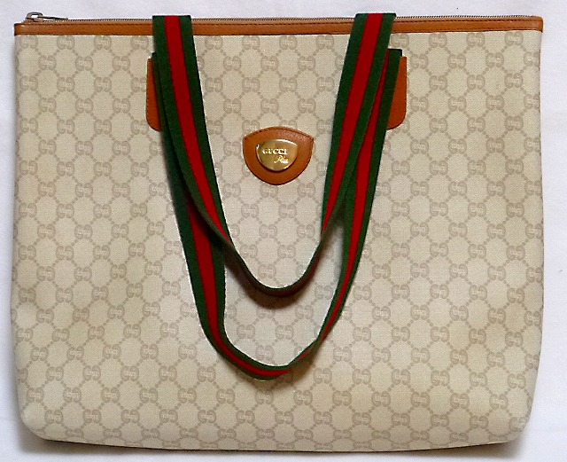 low priced 2a00c 9af97 OLD Gucci Plus ファスナー付きトートバッグ(キャメル・大 ...