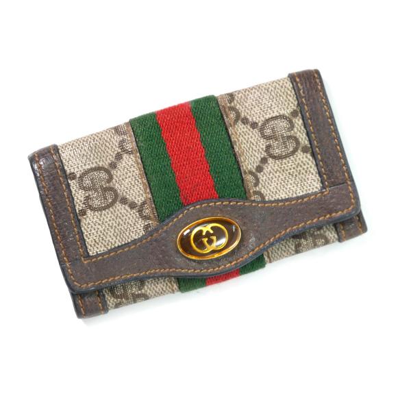 meet 05434 bd034 OLD Gucci シェリー6連キーケース(茶) | Vintage Shop Rococo