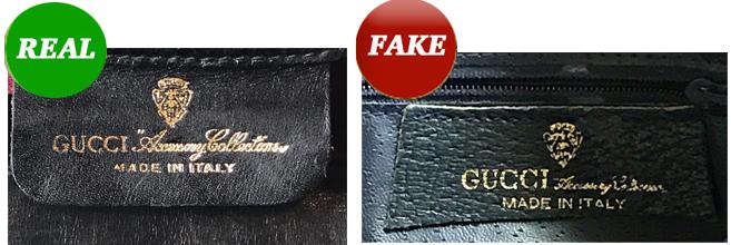 Gucci タグの偽物