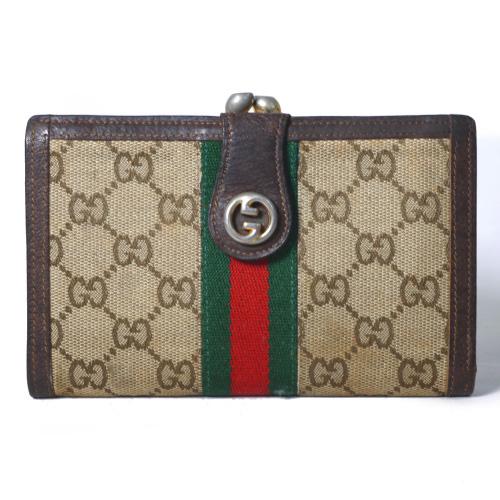 f978080b1a4c OLD Gucci がま口財布(茶・シェリーライン) | Vintage Shop Rococo