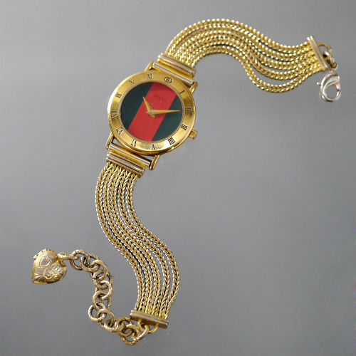 5b3e11eda2c0 OLD Gucci ブレスレットウォッチ(シェリーライン) | Vintage Shop Rococo