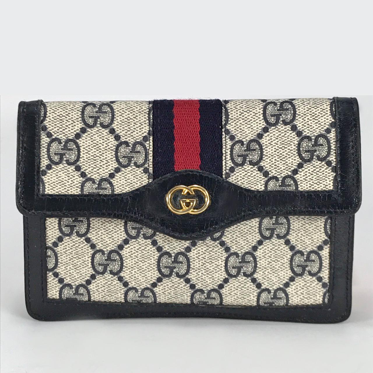 quality design 14284 e66fe OLD Gucci シェリーライン財布&ポーチ(青) | Vintage Shop Rococo