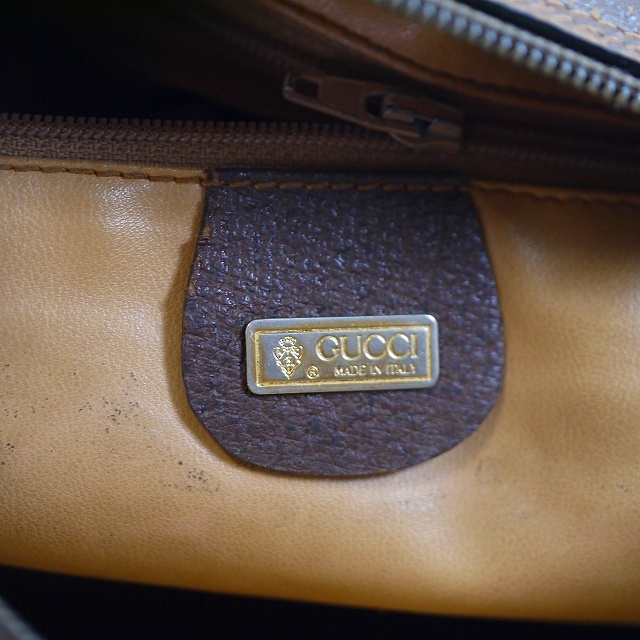 9609c6d03795 OLD Gucci 筆記体ロゴ2Wayミニボストン(茶) | Vintage Shop Rococo