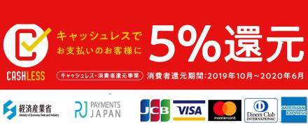 キャッシュレス・消費者還元事業/消費税改定のお知らせ